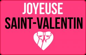 Bonne saint valentin
